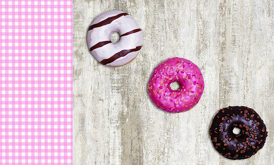 Food, Donuts, Background, Bakery, Sweet, Tasty