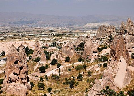 Turkey, Cappadocia, Rocks, Mountains, Landscape