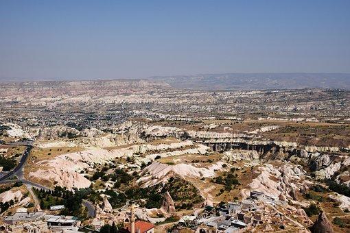 Turkey, Cappadocia, Landscape, Sky, Nature, Hill