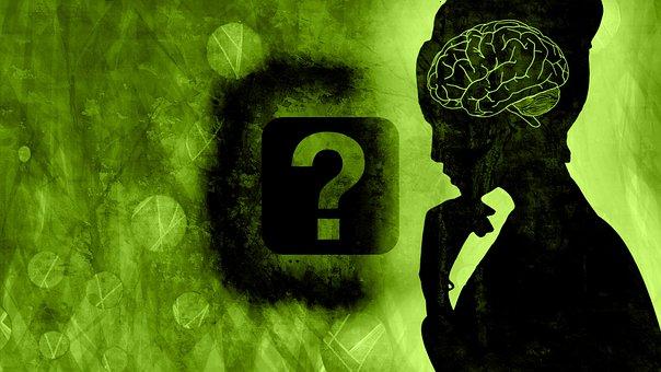 Brain, Woman, Question Mark, Concept, Idea, Symbol