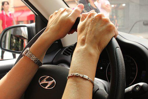 Hands, Auto, Steering Wheel, Women, Care, Wellness