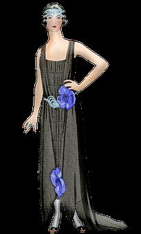 Vintage Woman, Flapper, Female, 1920s, Gatsby, Lady