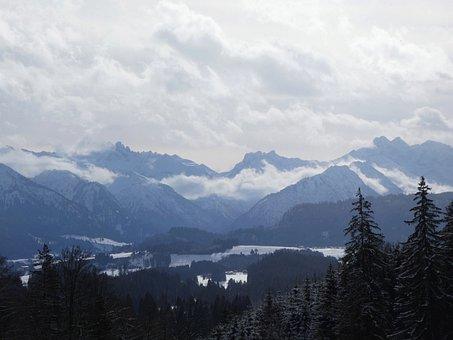 Mountains, Alpine, Allgäu, Allgäu Main Ridge