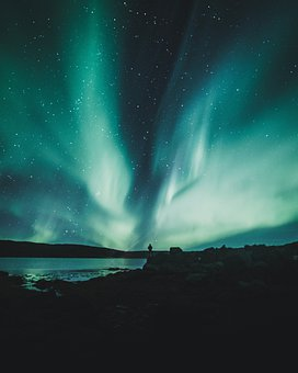 Hd, Photo, Of, Iceland, Night, Aurora, And, Nature, In