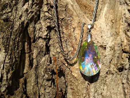 Pendant, Tree, Bark, Ornament