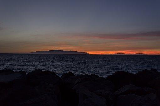 Sunset, Sea, Coast, Rocks, Beach, Rocky Coast