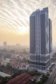 Bình Minh, Tòa Nhà, Cao ốc, Thành Phố, City, Hanoi