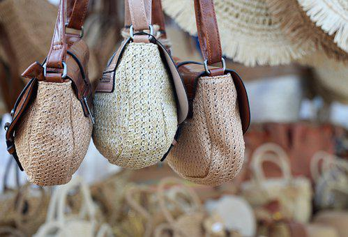 Bag, Basketry, Market, Crafts, Leather, Beige, Brown