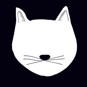 Feline, Cat, Outline, Face, Cat Face, Head, Cat Head