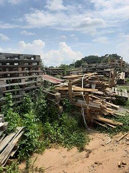 Pallets, Pallet, Wood, Logistics, Stacked, Stack, Diy