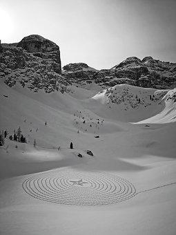 Antersasc, Dolomites, Drawing, Mysterious, Art, Star