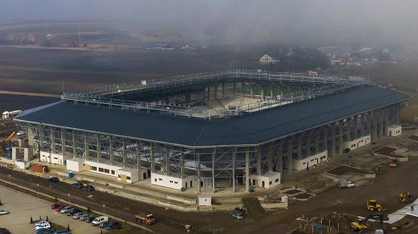 Stadium, Aerial, Drone, Architecture