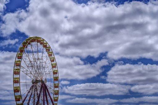Wheel, Ferris Wheel, Fair, Ride, Amusement, Fun, Park
