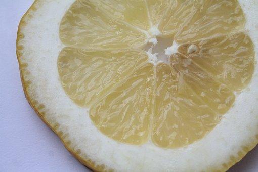 Lemon, Sliced, Fruit, Yellow, Food