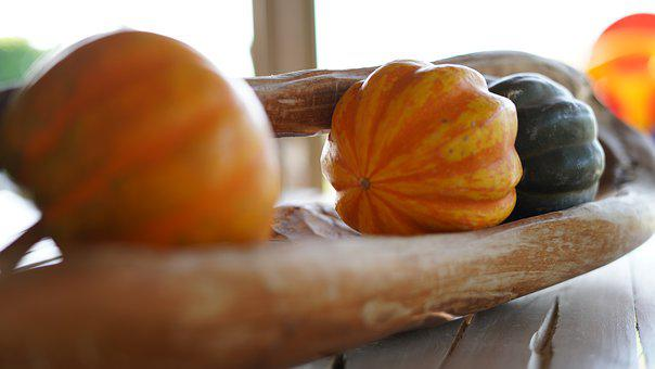 Pumpkin, Decoration, Vegetables, Food, Table, Kitchen