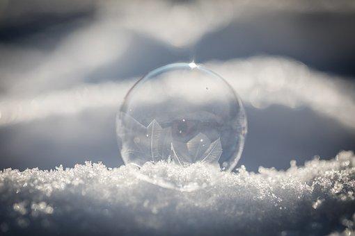 Winter, Frost, Bubble, Frozen, Snow, Cold, Freeze
