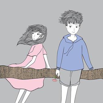 Couple, Boy, Girl, Together, Relationship