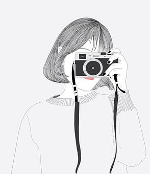 Girl, Photography, Camera, Photographer, Vintage, Old