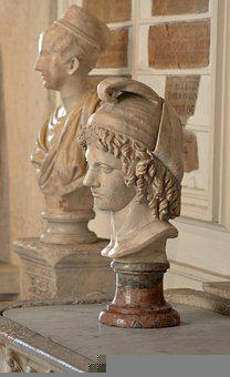 Bust, Antique, Sculpture, Rome, Roman, Man, God