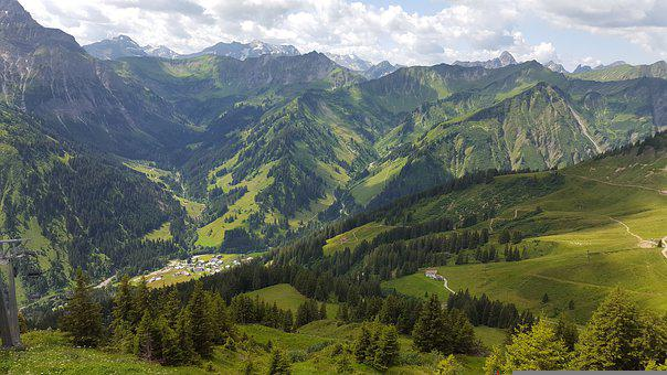 Mountain, Alm, Mountains, Alpine, Nature, Hiking, View