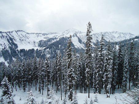 Mountains, Allgäu, Alpine, Kleinwalsertal, Snow, Winter