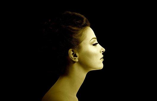 Woman, Sepia, Face, Portrait, Head, Profile, Model