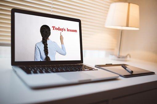 Online, Teacher, Computer, Elearning, Skype, E-learning