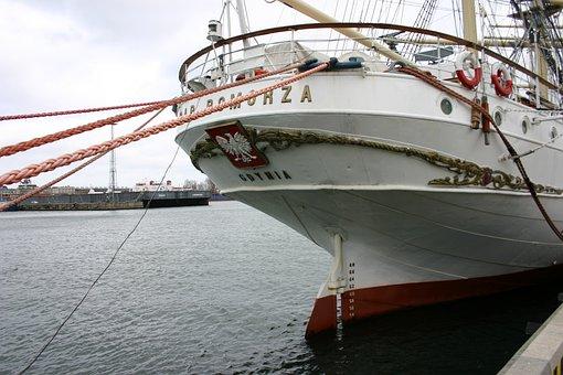 Gdynia, Ship, Gift, Pomerania, The Coast, Port