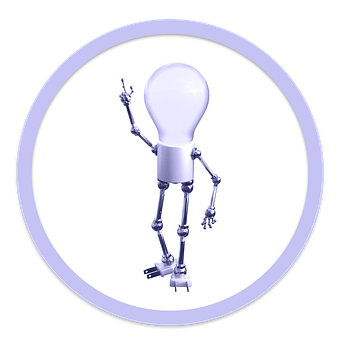 Icon, Idea, Bulb, Solution, Creative, Lightbulb, Robot