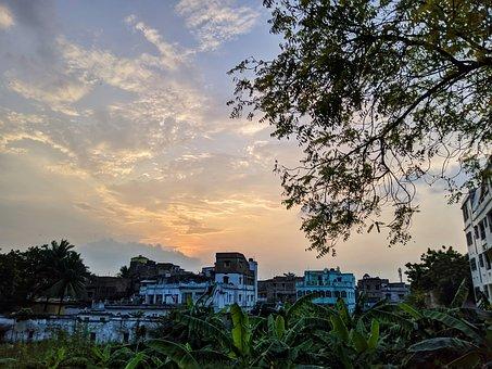Landscape, Scene, Sky, Clouds, Dusk, Dawn