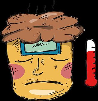 Man, Fever, Face, Head, Sketch, Covid-19, Corona