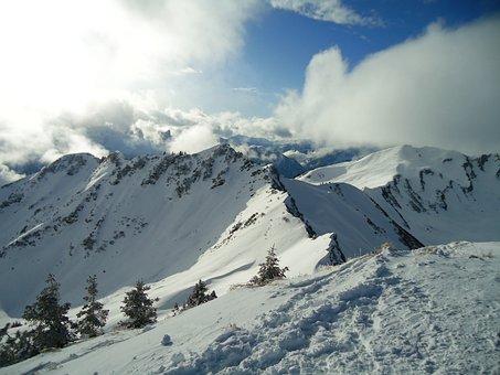 Mountains, Allgäu, Alpine, Kleinwalsertal, Cairns, Snow