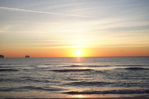 Sunrise, Miami Beach, Miami, Florida, Beach, Water