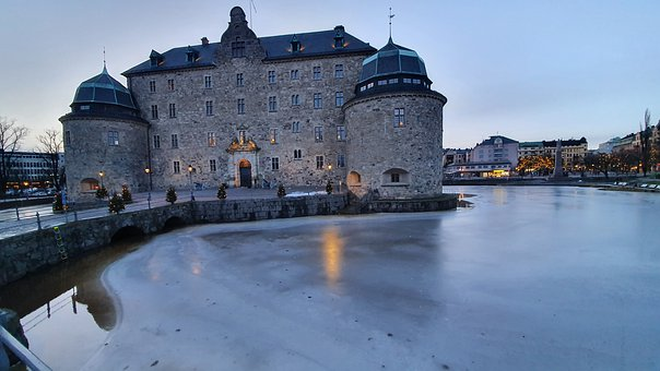 Castle, Sweden, örebro, Architecture, Palace, Ice