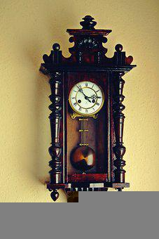 Clock, Wall, Antique, Old, Time, Crafts, Decorative