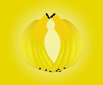 Banana, Fruits, Illustrator, Designer, Wesam, Light