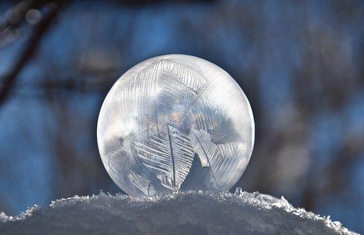 Winter, Bubble, Frozen, Soap Bubble, Frozen Bubble