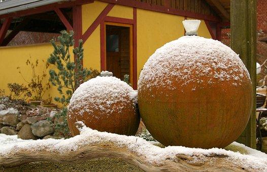 Terracotta, Balls, Terracotta Balls, Garden Lights