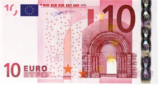 Dollar Bill, 10 Euro, Money, Banknote