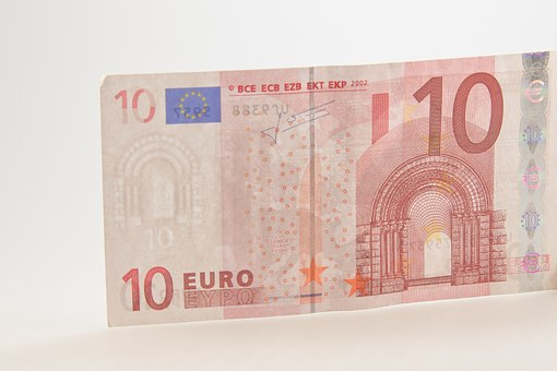 Ten, Euro, Bill, Dollar Bill, Currency, 10, Europe