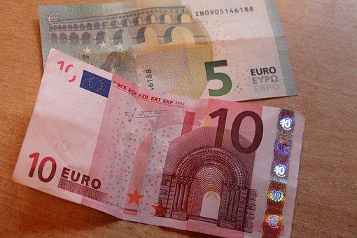 Dollar Bill, Euro, Currency, Bills, Paper Money