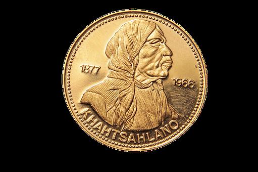 Khahtsahlano, British Columbia, Dollar, Coin, Canada