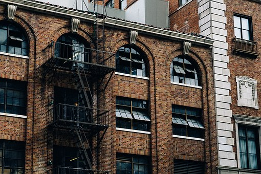 Building, Fire Escape, Staircase, Escape, Emergency