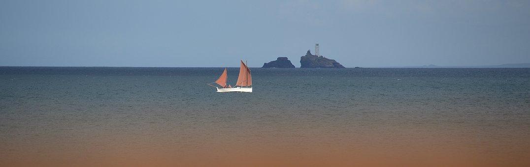 Porthkidney Beach, Godrevy, St Ives, Cornwall, Sea