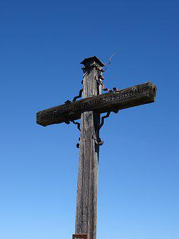 Summit Cross, Cross, Blue Sky