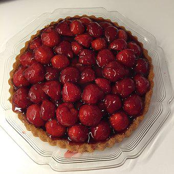 Strawberries, Cake, Pastries, Bake, Delicious