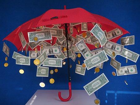 Gift, Money Rain, Dollar Rain, Umbrella, Gift Ideas