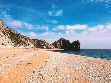 Durdle Door, Jurassic Coast, Dorset, England, Uk, Beach