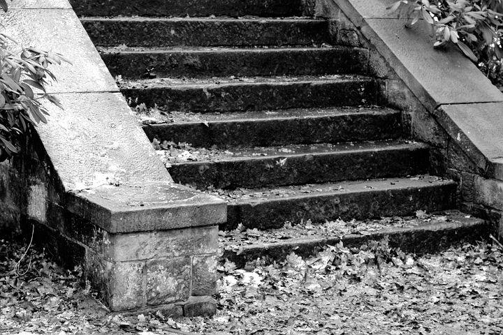 Stairs, Stone Stairway, Gradually, Emergence, Rise