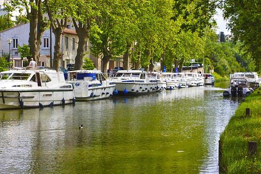 France, Carcassonne, River, Boats, Yacht Charter